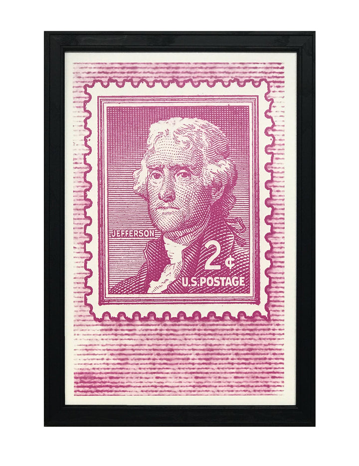 Thomas Jefferson Vintage Postage Stamp Art Print / Poster - 13x19""