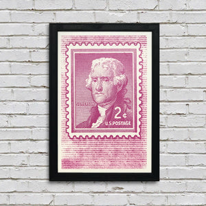 Thomas Jefferson Poster - Postage Stamp Art - 13x19""