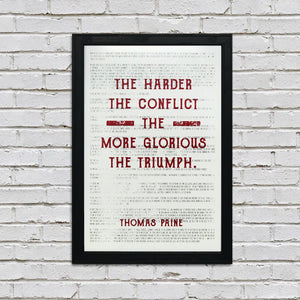 Thomas Jefferson Poster Art - Honesty First Chapter in Wisdom Quote Red - 13x19""