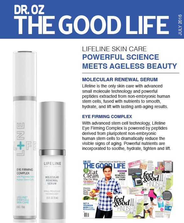 Lifeline in Press: Dr Oz The Good Life - July 2016