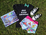 Handcrafted Children's Clothing, Clothing for Children and Parents, Just Keep Swimming Shirt, chi-fashionista