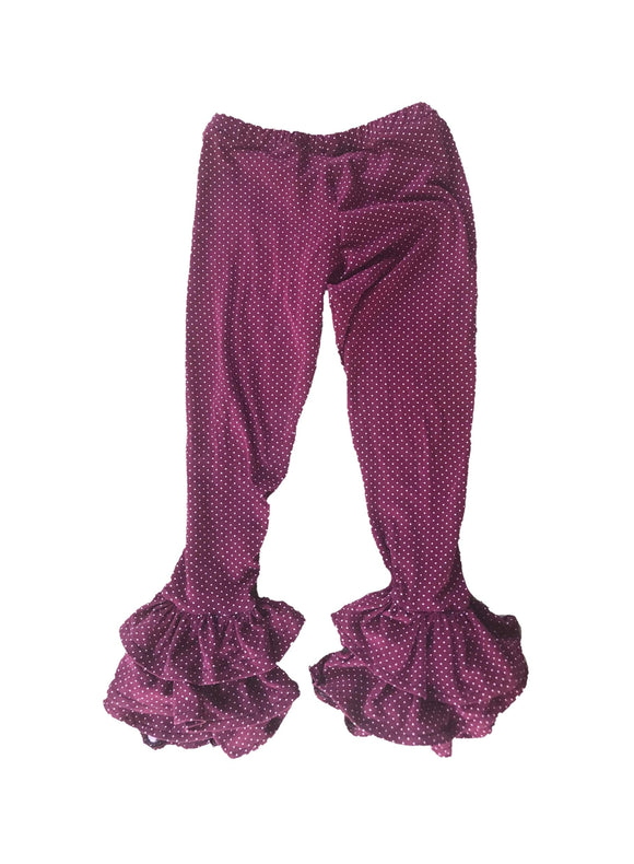 Purple Stacked Ruffle Pants