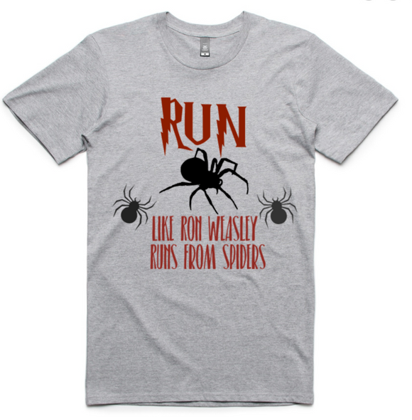 Run like Ron Weasley runs from Spiders