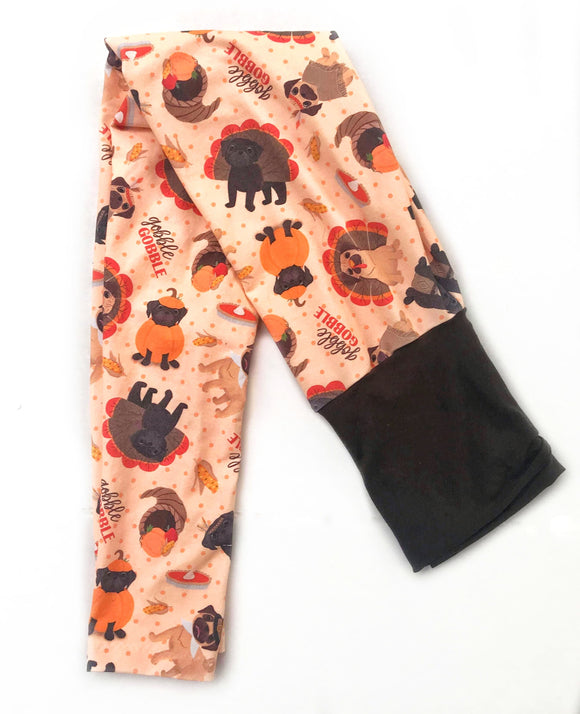 Pugsgiving Leggings-Women & Girls - Thanksgiving Style