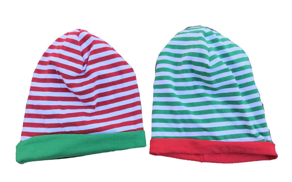 Christmas Striped Slouchy Beanie