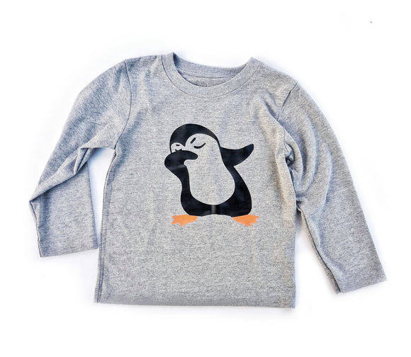 Dabbing Penguin Long Sleeve Tee