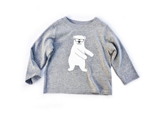 Flossin' Polar Bear Long Sleeve Tee