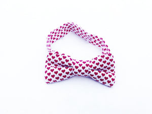 Red Hearts Bow Tie- Valentine's Day