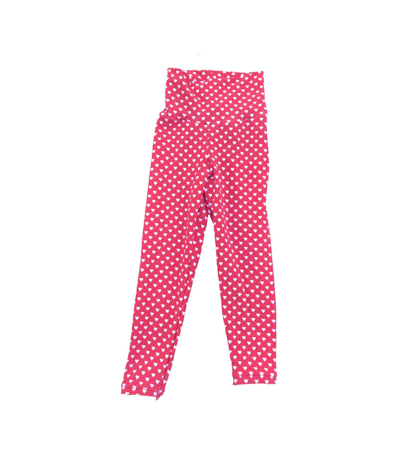 Red Hearts Valentine's Day Leggings