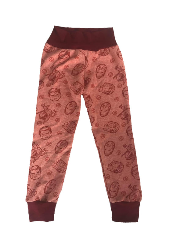 Red Superhero Joggers-Valentine's Day Collection