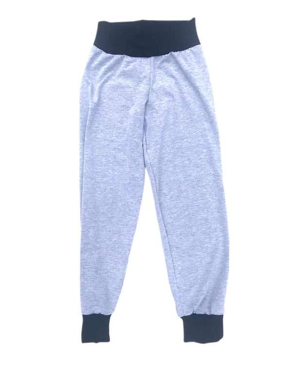 Heather Gray & Black Solid Joggers