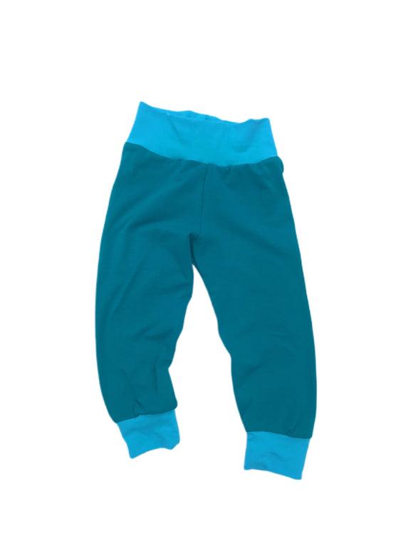 Jade and Aqua Solid Joggers