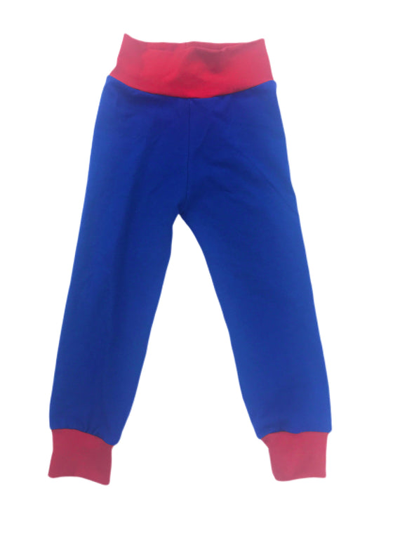 Red & Blue Solid Joggers