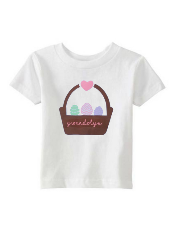 Personalized Easter Basket Shirt