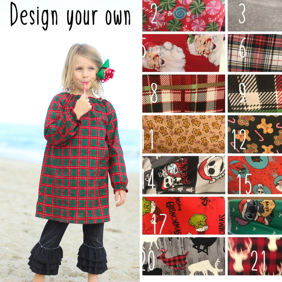 Christmas Seaside Dress-Choose your fabric
