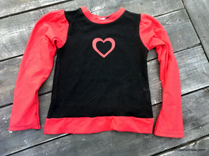 Valentine's Puffy Sleeve Top