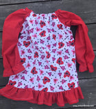 Custom Ruffled Seaside Tunic-Valentine's Collection
