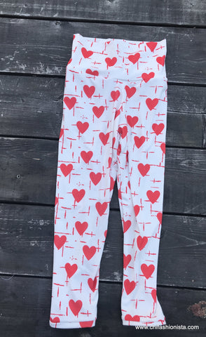 Hearts and Cross Leggings -Valentine's Day