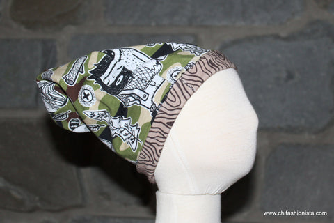 Camouflage Reversible Slouchy Hat