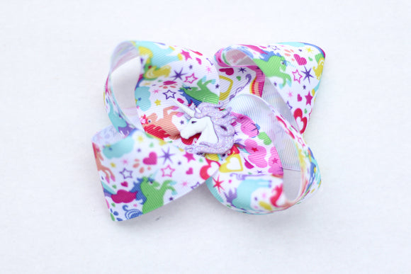 Unicorn Ribbon Bow