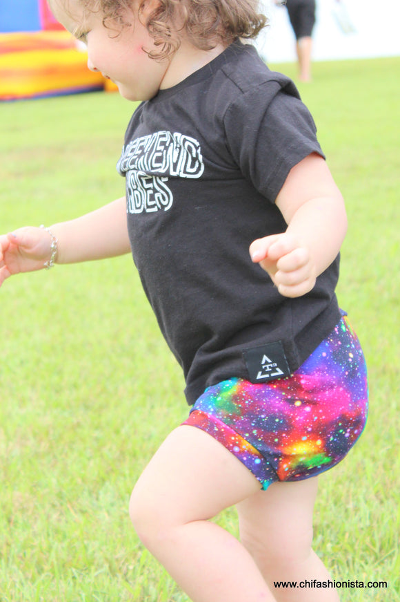 Handcrafted Children's Clothing, Clothing for Children and Parents, Galaxy Bummies, chi-fashionista