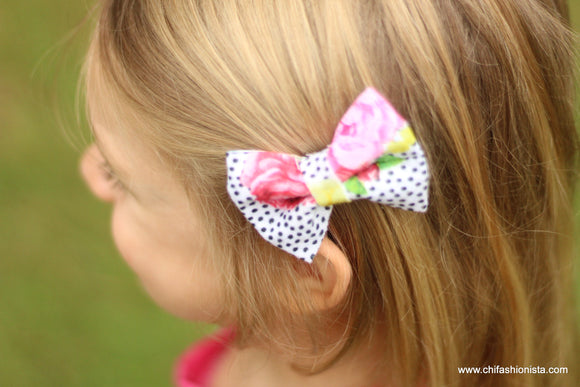 Handcrafted Children's Clothing, Clothing for Children and Parents, Flower Dot Bow, chi-fashionista