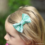 Teal Glitter Bow, Bow Release, Simple Bow, Sparkle Bows