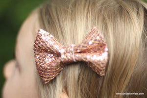 Handcrafted Children's Clothing, Clothing for Children and Parents, Rose Gold Bow, chi-fashionista