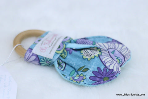 Floral Sensory Teething Ring