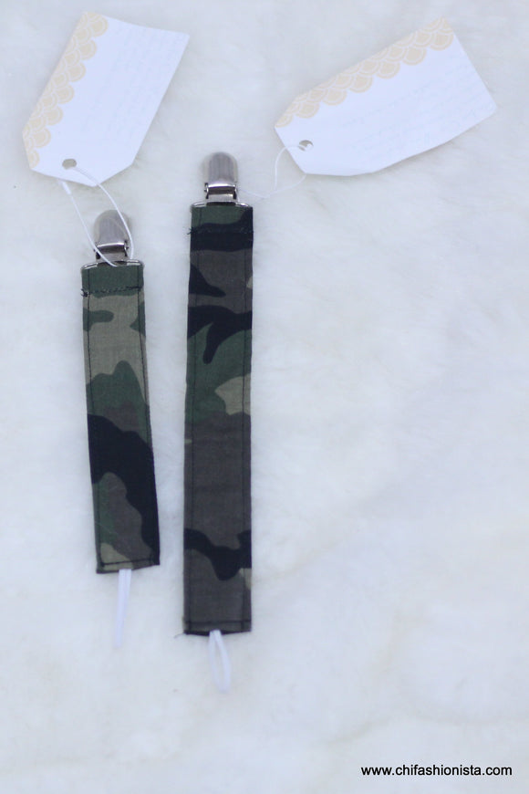 Camouflage Pacifier Clip