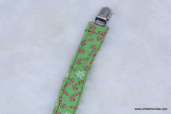 Christmas Candy Cane Pacifier Clip