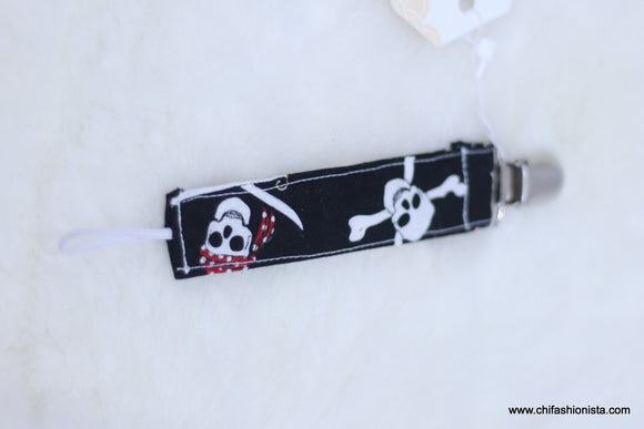 Mini Jolly Roger Pacifier Clip