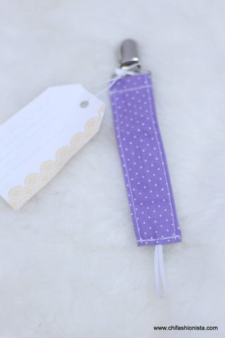 Mini Lilac Purple Pacifier Clip