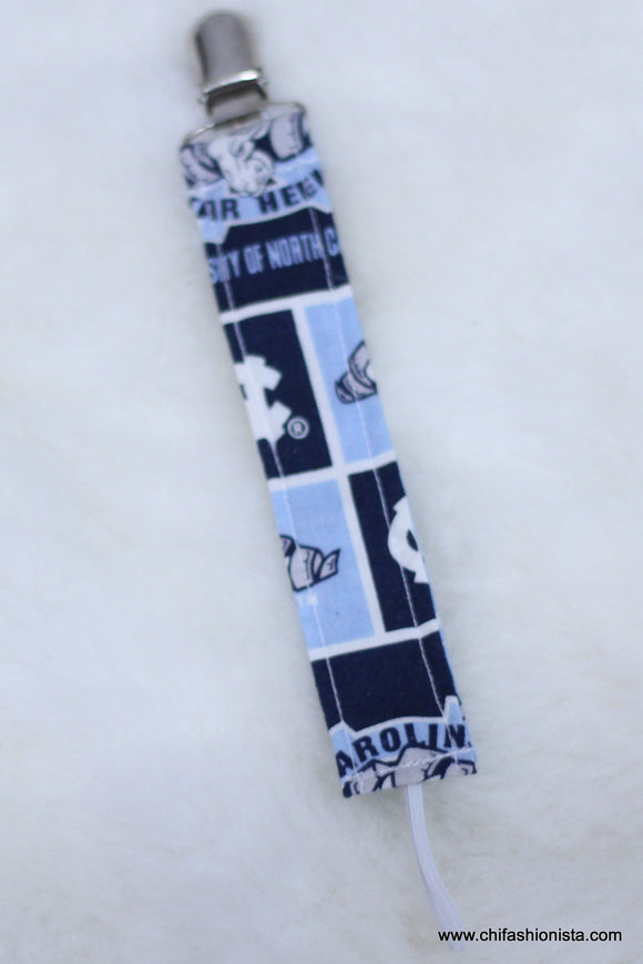 UNC Mini Pacifier Clip