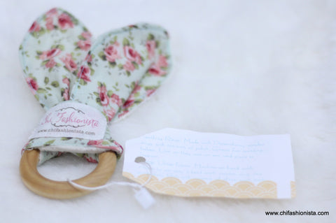 Vintage Floral Sensory Teething Ring