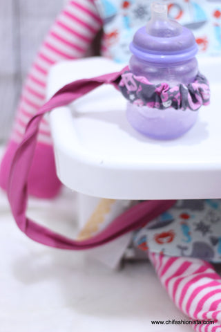 Pink Skull Sippy Cup Leash