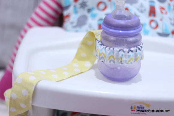 Yellow Polka Dot Sippy Cup Leash
