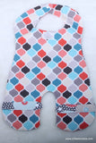 Teal and Coral Body Bib