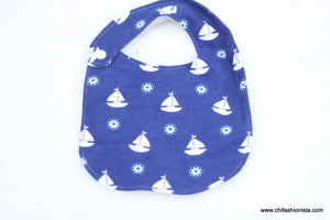 Blue Sailboat Bib