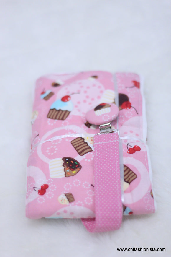 Pink Cupcake Burp Cloth Set