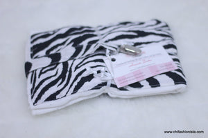 Zebra print Burp Cloth Set