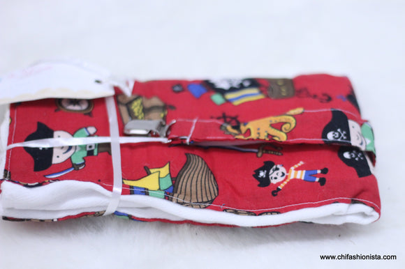 Pirate Burp Cloth Set