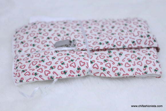 Candy Cane Burp Cloth Set