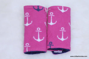 Pink Anchor Car Seat Strap Cover