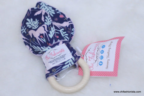 Unicorn Sensory Teething Ring