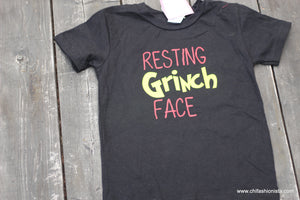 Resting Grinch Face-RTS 3T- Suess