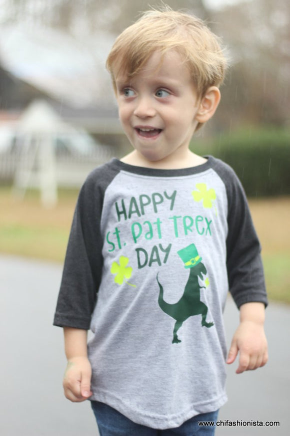Happy St. Pat-trex Day- St. Patrick's Day Tee
