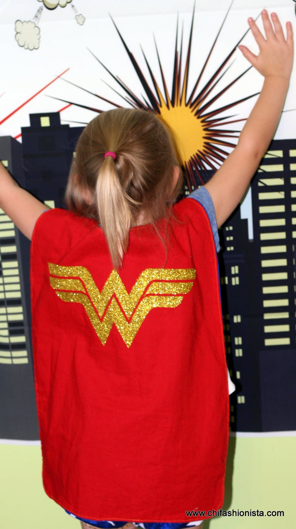 Handcrafted Children's Clothing, Clothing for Children and Parents, Wonder Girl Cape, chi-fashionista