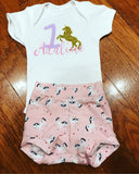 Handcrafted Children's Clothing, Clothing for Children and Parents, Unicorn 1st Birthday Shirt, chi-fashionista