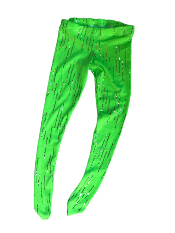 Neon Green Sparkle Tights